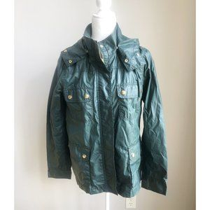 J. Crew Green Hooded Utility Jacket M